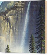 Majestic Falls Wood Print