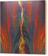 Majestic Fire Wood Print