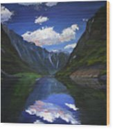 Majestic Fjords Wood Print