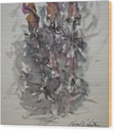 Majestic Floral E Wood Print