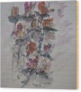 Majestic Floral J Wood Print