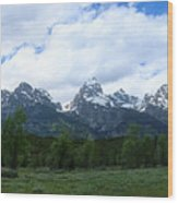 Majestic Grand Tetons Wood Print