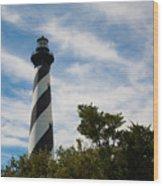 Majestic Hatteras Lighthouse Wood Print