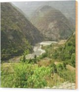 Majestic Himalayas Wood Print