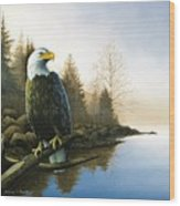 Majestic Light - Eagle Wood Print