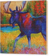 Majestic Monarch - Moose Wood Print by Marion Rose