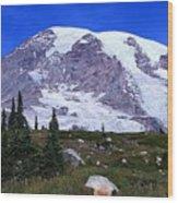 Majestic Mount Rainier Wood Print
