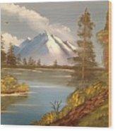 Majestic Mountain Lake Wood Print