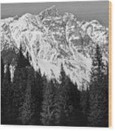 Majestic Mountains, British Columbia, Canada Wood Print