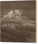 Majestic Mt. Rainier Wood Print