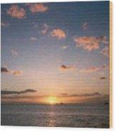 Majestic Ocean Sunset Wood Print