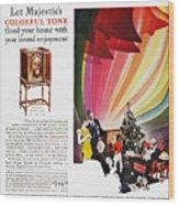 Majestic Radio Ad, 1929 Wood Print