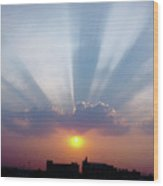Majestic Rays Wood Print