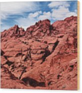 Majestic Red Rocks Wood Print