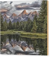 Majestic Reflection Wood Print