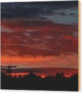 Majestic Sunset 2 Wood Print