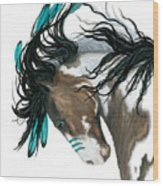 Majestic Turquoise Horse Wood Print
