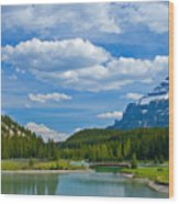 Majestic View At Cascade Ponds - Canadian Rockies Wood Print
