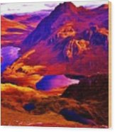 Majestic Wales Wood Print