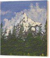Majestic White Wood Print