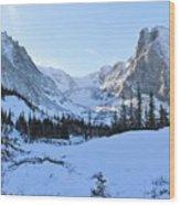 Majestic Winter Landscape Wood Print