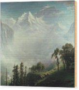 Majesty Of The Mountains Wood Print