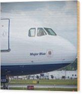 Major Blue Wood Print