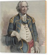 Major General Israel Putnam Wood Print