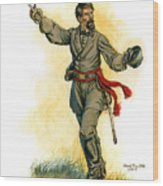 Major General Patrick R. Cleburne Wood Print