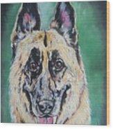 Major, The German Shepherd  Wood Print