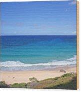 Makapuu Beach Wood Print