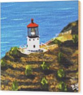 Makapuu Lighthouse #78, Wood Print
