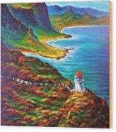 Makapuu Point Lighthouse Wood Print