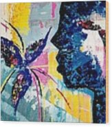 Make A Wish Abstract Art Figure Painting  Wood Print