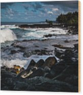 Makuu Cliffs Wood Print