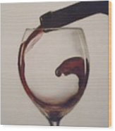Make Mine A Red Wine Wood Print by Paul Horton