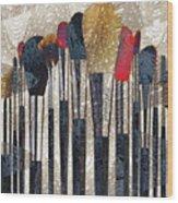 Make Up Brush Wood Print