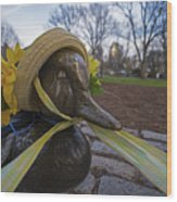 Make Way For Ducklings B.a.a. 5k Spring Bonnet Wood Print