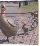 Make Way For The Ducklings Wood Print