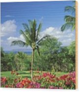 Makena Beach Golf Course Wood Print
