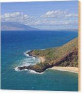 Makena, Maui Wood Print