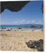 Makena View From Secret Beach Wood Print
