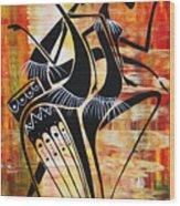 Makonde And Mask 5 Wood Print