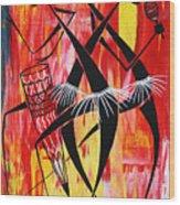 Makonde Dance Series Wood Print