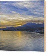 Makrygialos Sunset Wood Print