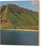 Makua, Oahu Wood Print