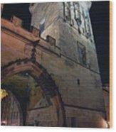Mala Strana Bridge Tower Wood Print