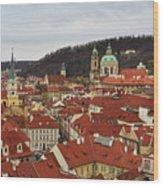 Mala Strana Rooftops. Prague Spring 2017 Wood Print