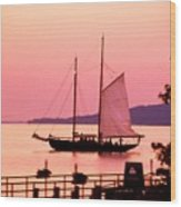 Malabar X Sailboat At Sunset Wood Print