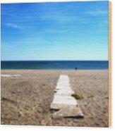 Malaga Beach Wood Print